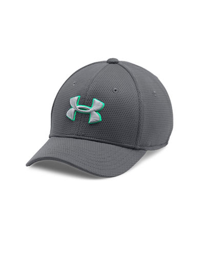 Under Armour Blitzing II Stretch-Fit Baseball Cap-SILVER-S/M