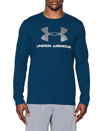 Under Armour Sportstyle Cotton Blend Tee-BLUE-Large 89055063_BLUE_Large
