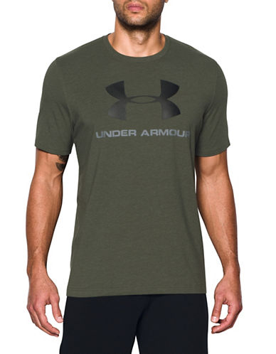 Under Armour Sportstyle Logo Tee-GREEN-Medium 89163051_GREEN_Medium