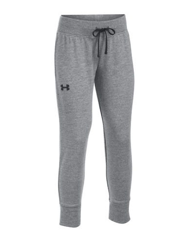 Under Armour French Terry Cropped Track Pants-BLACK-Medium 89102380_BLACK_Medium