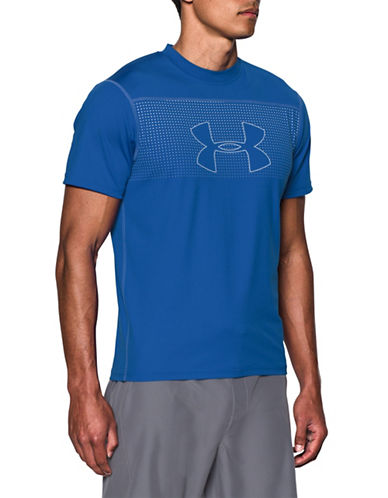 Under Armour Rashguard Threadborne T-Shirt-BLUE-Medium 89067131_BLUE_Medium