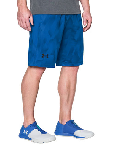 Under Armour Printed Raid Shorts-BLUE-Medium 89162934_BLUE_Medium