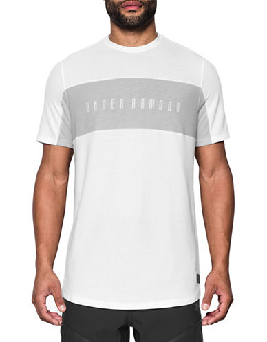 Under Armour Courtside Cut and Sew T-Shirt-WHITE-Large 89948143_WHITE_Large