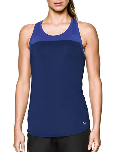 Under Armour Fly-By Fitted Tank-PURPLE-X-Small