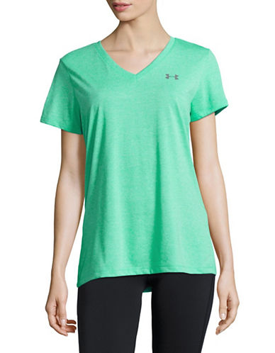 Under Armour Threadborne V-Neck T-Shirt-ABSINTH GREEN-Medium 89136218_ABSINTH GREEN_Medium