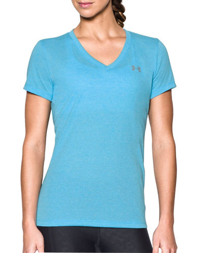 Under Armour Threadborne Train Twist T-Shirt-BLUE-X-Small