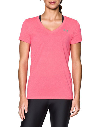 Under Armour Threadborne Twist Training Tee-PINK SHOCK-X-Large 88966937_PINK SHOCK_X-Large