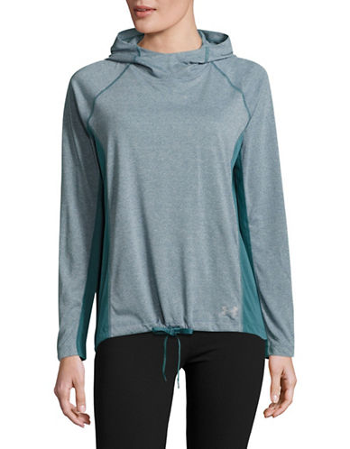 Under Armour Threadborne Long Sleeve Hooded Pullover-MARLIN BLUE-Small