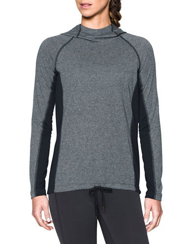Under Armour Threadborne Heathered Twist Training Hoodie-BLACK-X-Small 88966943_BLACK_X-Small