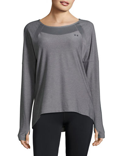 Under Armour Sport Mesh Long Sleeve Top-GRAPHITE-X-Small 89136281_GRAPHITE_X-Small