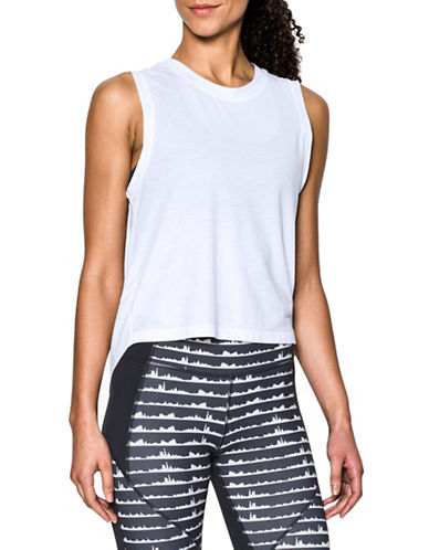 Under Armour Breathe Muscle Tank Top-WHITE-Medium