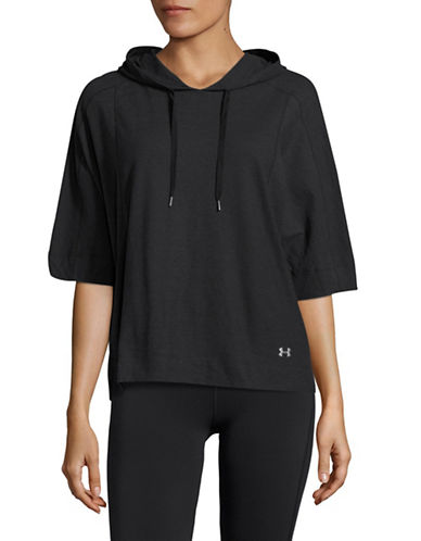 Under Armour Favorite Mesh Os Hoodie-BLACK-Medium 89136238_BLACK_Medium