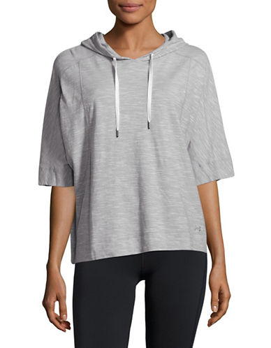 Under Armour Favorite Mesh Os Hoodie-GREY HEATHER-X-Large 89136245_GREY HEATHER_X-Large