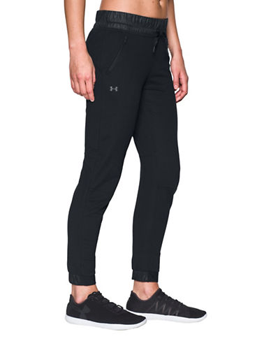 Under Armour Leisure Slim Fit Joggers-BLACK-Medium 88966975_BLACK_Medium