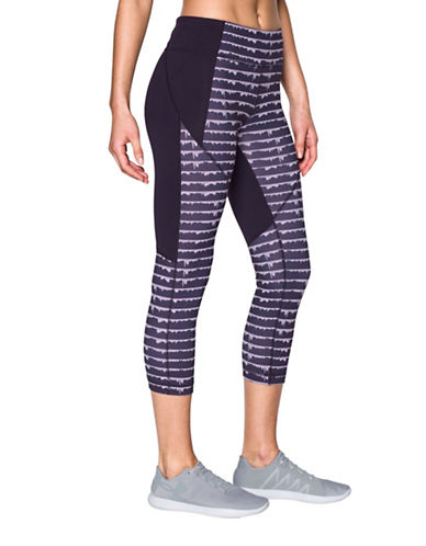 Under Armour Mirror Printed Crop Leggings-IMPERIAL PURPLE-X-Small 89070363_IMPERIAL PURPLE_X-Small