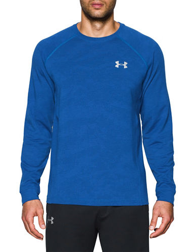 Under Armour French Terry Long Sleeve Tee-BLUE-Medium 88989926_BLUE_Medium