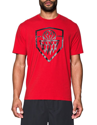 Under Armour Basketball Icon Printed Cotton-Blend Tee-RED-X-Large 89098943_RED_X-Large