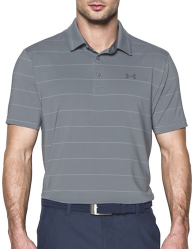 Under Armour Pin-Striped Playoff Polo-GREY-Small 89183080_GREY_Small