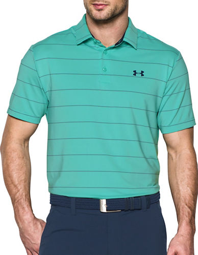 Under Armour Play-off Pinstriped Polo-MINT-Large