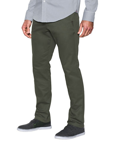 Under Armour Performance Chino Tapered Leg Pants-GREEN-36X32
