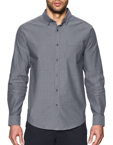 Under Armour Performance Oxford Shirt-GREY-Medium 88989971_GREY_Medium