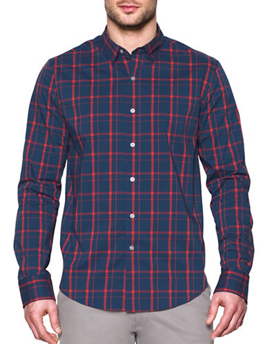 Under Armour Performance Woven Plaid Shirt-BLUE-Small 88989825_BLUE_Small