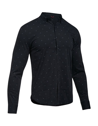 Under Armour Performance Woven Shirt-BLACK-XX-Large 88989819_BLACK_XX-Large