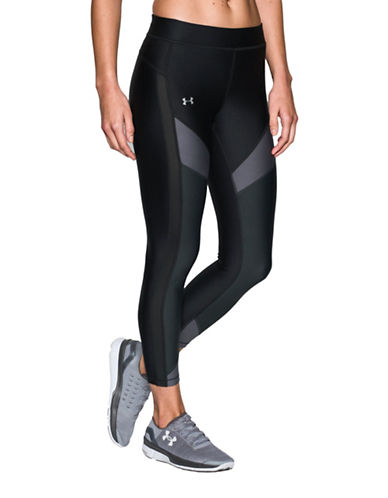 Under Armour HeatGear Colourblock Ankle Pants-BLACK-Small