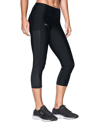Under Armour Mesh Inset Cropped Leggings-BLACK-Large 89219381_BLACK_Large