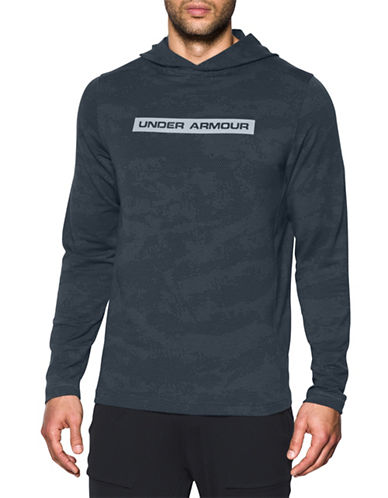 Under Armour Tech French Terry Hooded Tee-GREY-XX-Large 88989969_GREY_XX-Large