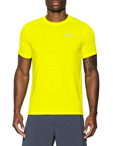 Under Armour Threadborne Streaker T-Shirt-YELLOW-XX-Large 89162971_YELLOW_XX-Large