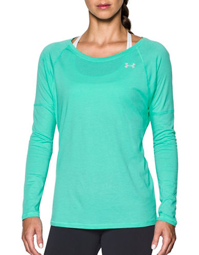 Under Armour Cotton Modal Long Sleeve Top-CRYSTAL-X-Small 88913263_CRYSTAL_X-Small