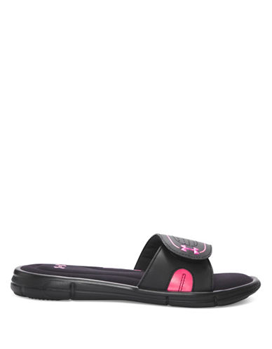 Under Armour Womens Ignite VII Slides-BLACK-6