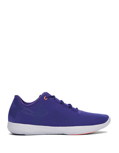 Under Armour Womens Street Precision Low-Top Sneakers-PURPLE-7