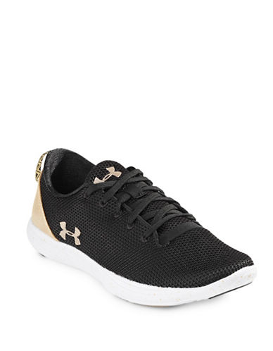Under Armour Womens Street Precision Sport Sneakers-BLACK-8.5