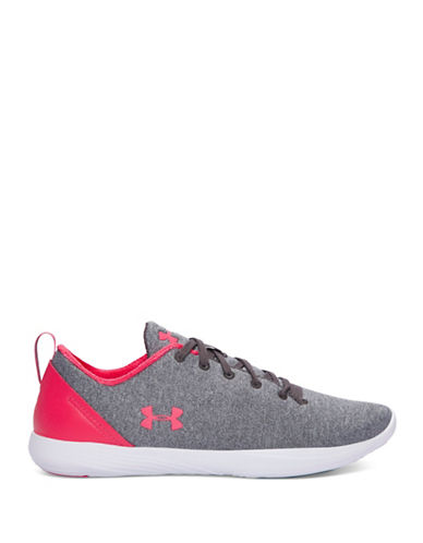 Under Armour Womens Street Precision Sport Low Sneakers-GREY-7