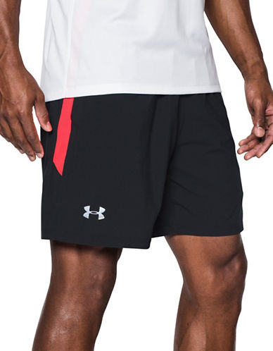 Under Armour Launch Stretch Woven Shorts-BLACK-Large 89098867_BLACK_Large