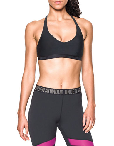 Under Armour Low Impact Strappy Back Sports Bra-BLACK-Large