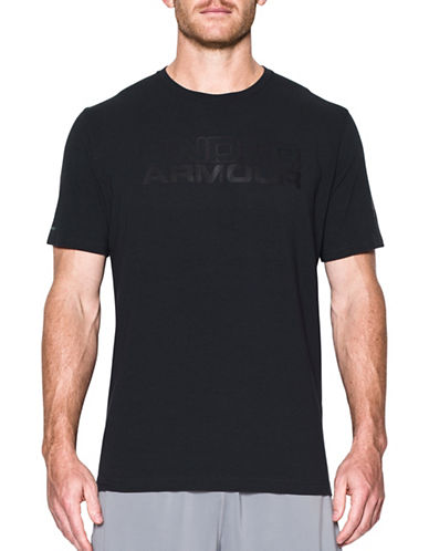 Under Armour Mesh Gel Wordmark T-Shirt-BLACK-Small