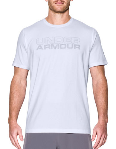 Under Armour Mesh Gel Wordmark T-Shirt-WHITE-X-Large 89232835_WHITE_X-Large