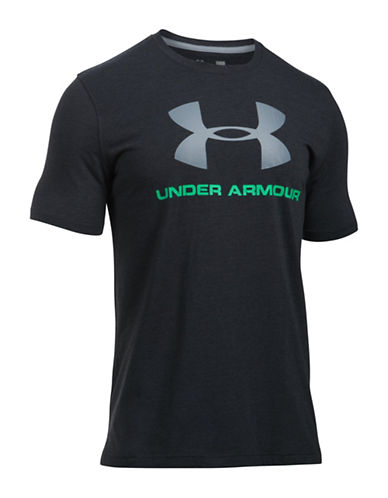 Under Armour Charged Cotton Sport Style Logo Tee-BLACK-X-Large 88989813_BLACK_X-Large