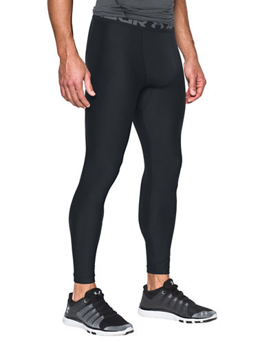 Under Armour Solid HeatGear Leggings-BLACK-X-Large