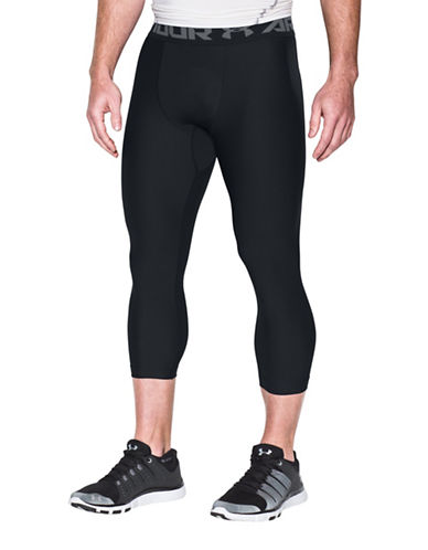 Under Armour Heatgear Three-Quarter Leggings-BLACK-Large 89103043_BLACK_Large
