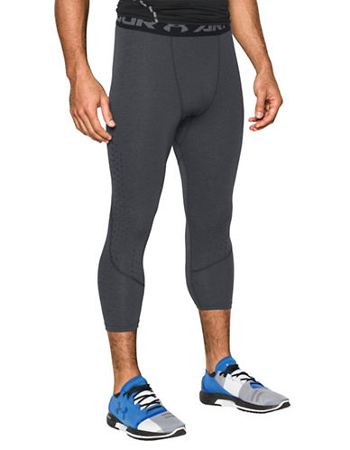 Under Armour HeatGear CoolSwitch Armour Twist Compression Leggings-GREY-Small 89183176_GREY_Small