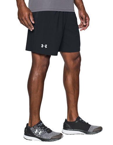 Under Armour Launch Stretch Woven Shorts-BLACK-Large 89098857_BLACK_Large