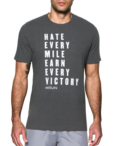 Under Armour UA Run Earn Victory T-Shirt-GREY-Large 89163013_GREY_Large