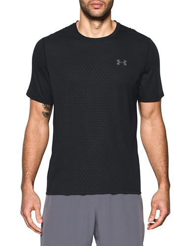 Under Armour Threadborne Siro Embossed T-Shirt-BLACK-Medium 89109214_BLACK_Medium