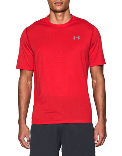 Under Armour Threadborne Siro T-Shirt-RED-Small