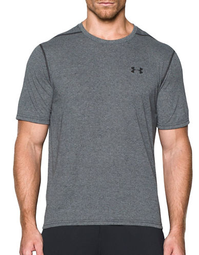 Under Armour Threadborne Siro T-Shirt-BLACK-Large