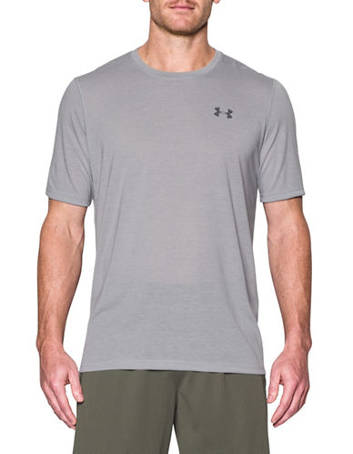 Under Armour Threadborne Siro Striped T-Shirt-GREY-Small 89163122_GREY_Small